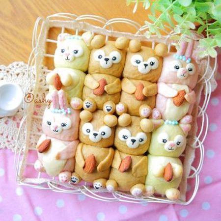 tigiri12 - ディズニーでクリスマスの食卓を楽しみたい 〜 かわいいディズニーちぎりパン