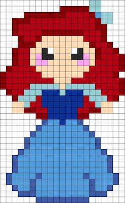 beads010 min - ディズニーキャラクター かわいいアイロンビーズ図案が無料でダウンロードできる!!