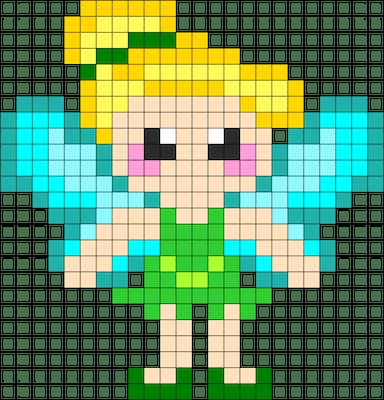 beads017 min - ディズニーキャラクター かわいいアイロンビーズ図案が無料でダウンロードできる!!