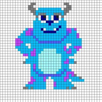 beads018 min - ディズニーキャラクター かわいいアイロンビーズ図案が無料でダウンロードできる!!