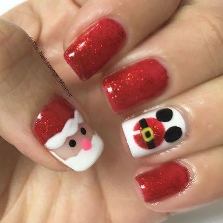xnail06 min - ディズニー クリスマスネイルを大研究 〜 簡単ネイルをマスターしよう!!