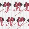 cros021 min - クロスステッチでイニシャル刺繍 〜 かわいいディズニーアルファベットの無料図案