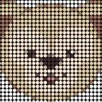 du010 min - ダッフィー【図案】〜 アイロンビーズやアクアビーズ、編みぐるみまでハンドメイドしたい!!