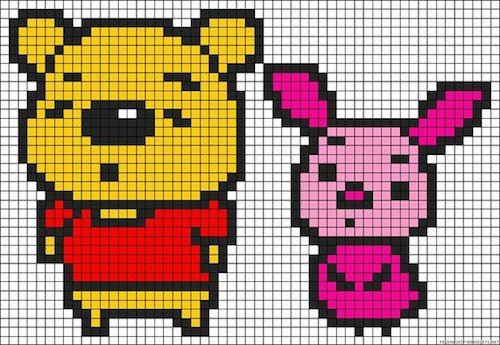 sikaku012 min - 【アイロンビーズ無料図案】四角いプレートを利用してディズニーキャラクターを作ろう!!〜フレンズからプリンセスまで【15点追加】