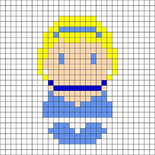sikaku014 min - 【アイロンビーズ無料図案】四角いプレートを利用してディズニーキャラクターを作ろう!!〜フレンズからプリンセスまで【15点追加】