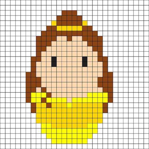 sikaku018 min - 【アイロンビーズ無料図案】四角いプレートを利用してディズニーキャラクターを作ろう!!〜フレンズからプリンセスまで【15点追加】