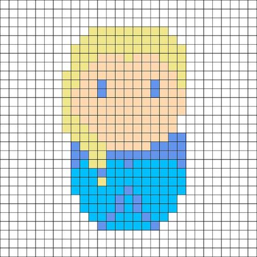 sikaku021 min - 【アイロンビーズ無料図案】四角いプレートを利用してディズニーキャラクターを作ろう!!〜フレンズからプリンセスまで【15点追加】
