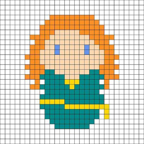 sikaku024 min - 【アイロンビーズ無料図案】四角いプレートを利用してディズニーキャラクターを作ろう!!〜フレンズからプリンセスまで【15点追加】