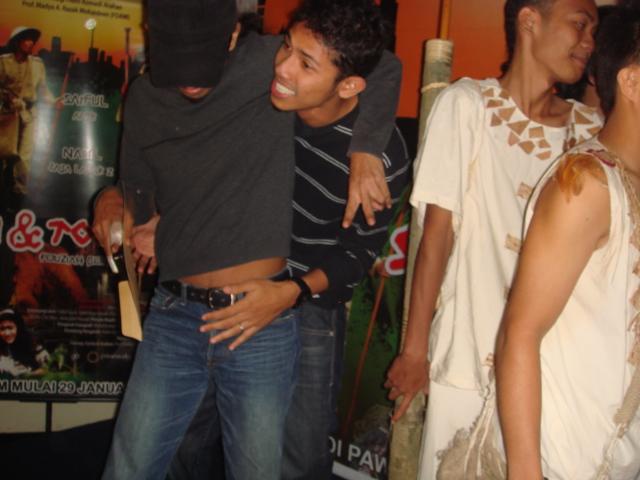 Apek and Nabil having fun