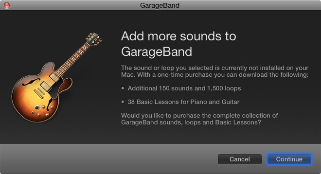 GarageBand in app purchase