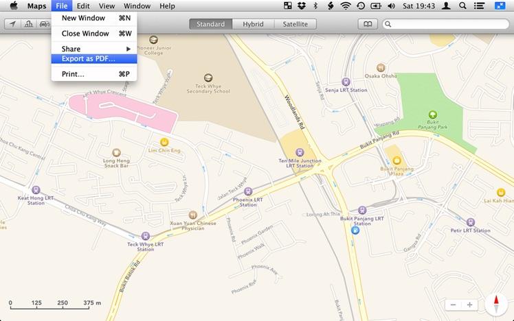 Maps PDF Export
