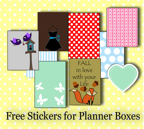 Stickers for Happy Planner and Erin Condren Life Planner Boxes