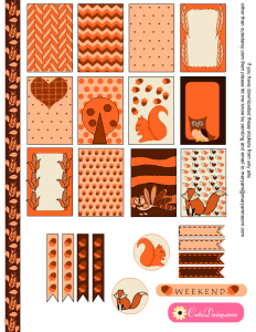 Thanksgiving Stickers for Happy Planner and EC