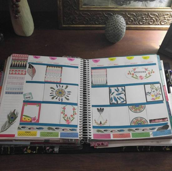free printable aztec boho stickers used in planner