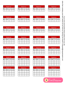 Weekly Medicine Tracking Stickers for Planner
