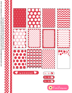Polka Dotted Stickers in Coral Pink Color
