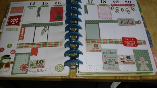 free printable Christmas stickers used in Planner