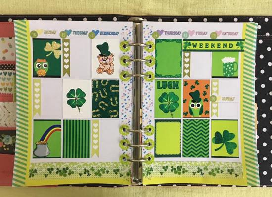 Saint Patrick's Day Planner Layout