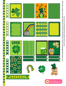 Free Printable Saint Patrick's Day Stickers for ECLP