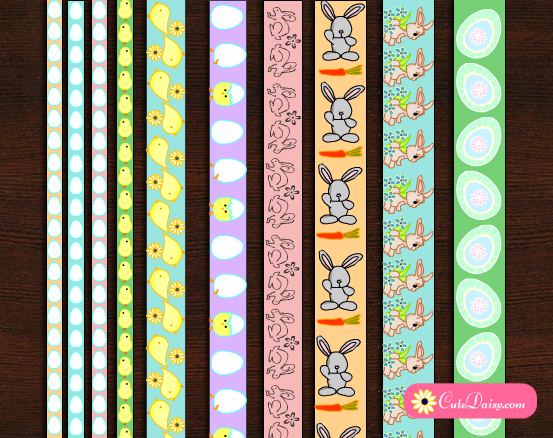 image about Printable Washi Tape called Totally free Printable Washi Tapes