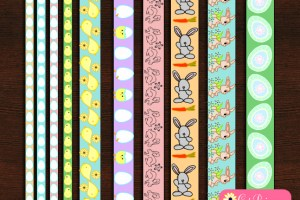 Free Printable Easter Washi Tapes