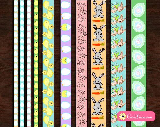 Free Printable Easter Washi Tapes