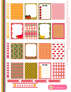 Free Printable Fruit Stickers for ECLP