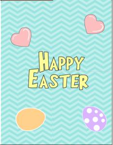 Cute Happy Easter Printable Card