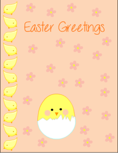 Free Printable Easter Greeting Card