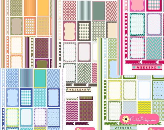 Stickers for Happy Planner in Spring Colors