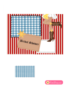 Country or Western Bridal Shower Invitation in Red Color