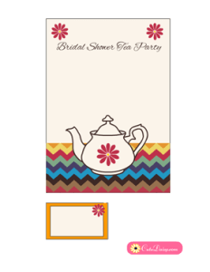 Tea Party Invitation Template in Off-white Color