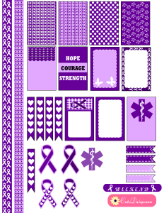 Free Printable Epilepsy Awareness Stickers for Happy Planner