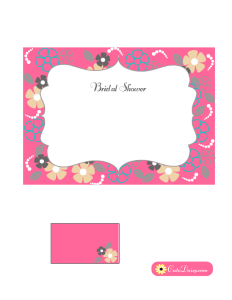 Pink Bridal Shower Invitation with Flowers