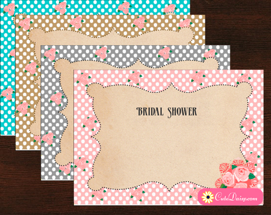Free Printable Vintage Bridal Shower Invitations