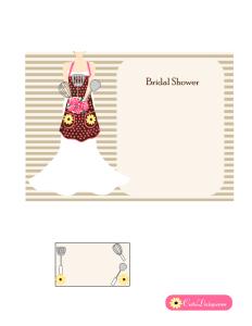 Free Printable Kitchen Bridal Shower Invitation in Pink Color