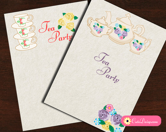 photograph relating to Printable Tea Party Invitations called Absolutely free Printable Tea Celebration Invites