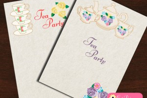 Free Printable Tea Party Invitations