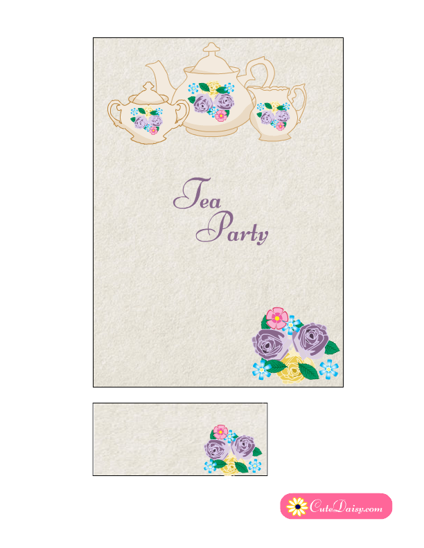 picture relating to Free Printable Tea Party Invitations identify Free of charge Printable Tea Occasion Invites