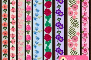 Free Printable Floral Washi Tapes