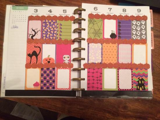 Free printable Halloween stickers used in Planner