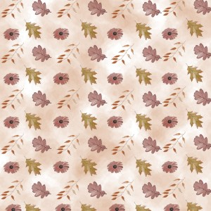 Free printable floral fall paper