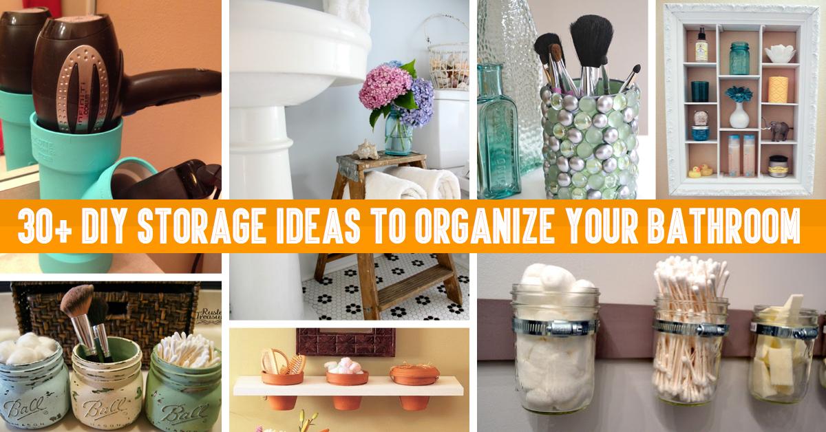 30 Diy Storage Ideas To Organize Your Bathroom Cute Diy Projects