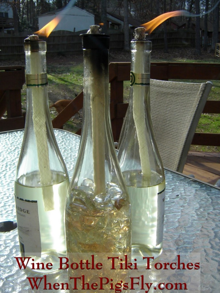 DIY Wine Bottle Torches