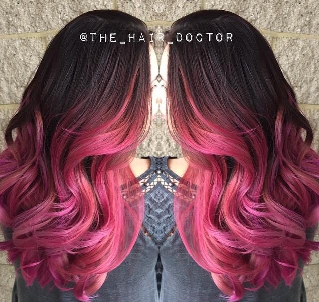 Rose Gold Ombre Hair Color Formula
