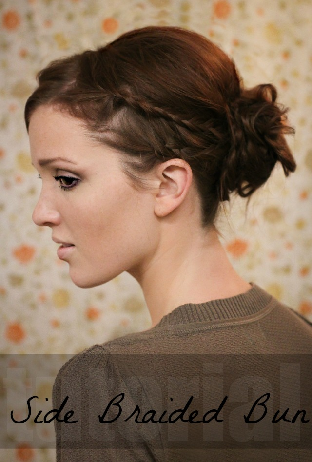 Side Braided hair bun
