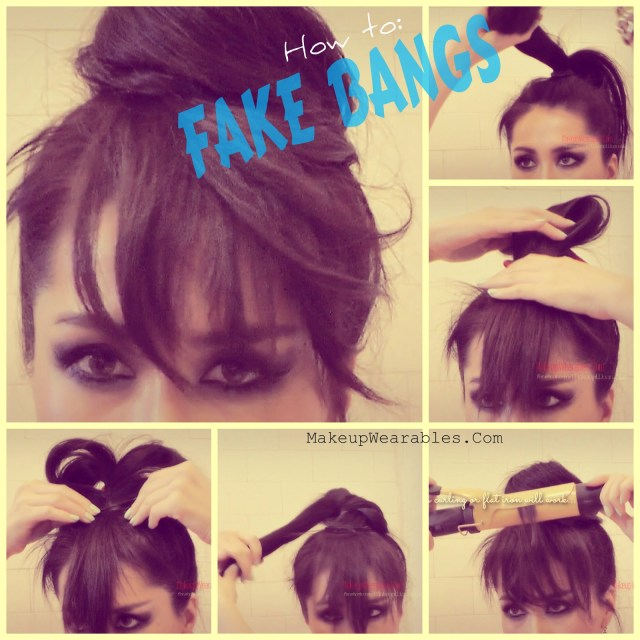 how to fake bangs : cute easy bun hairstyles – cute diy projects