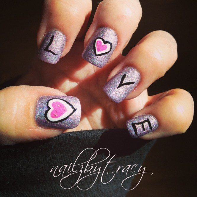 17 Love Inspired Valentine S Day Nail Art Designs Me To You Bear Nails