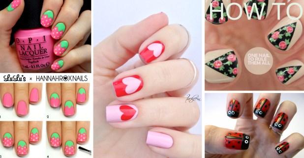 50 cute cool simple and easy nail art design ideas for 2017 - Art Design Ideas