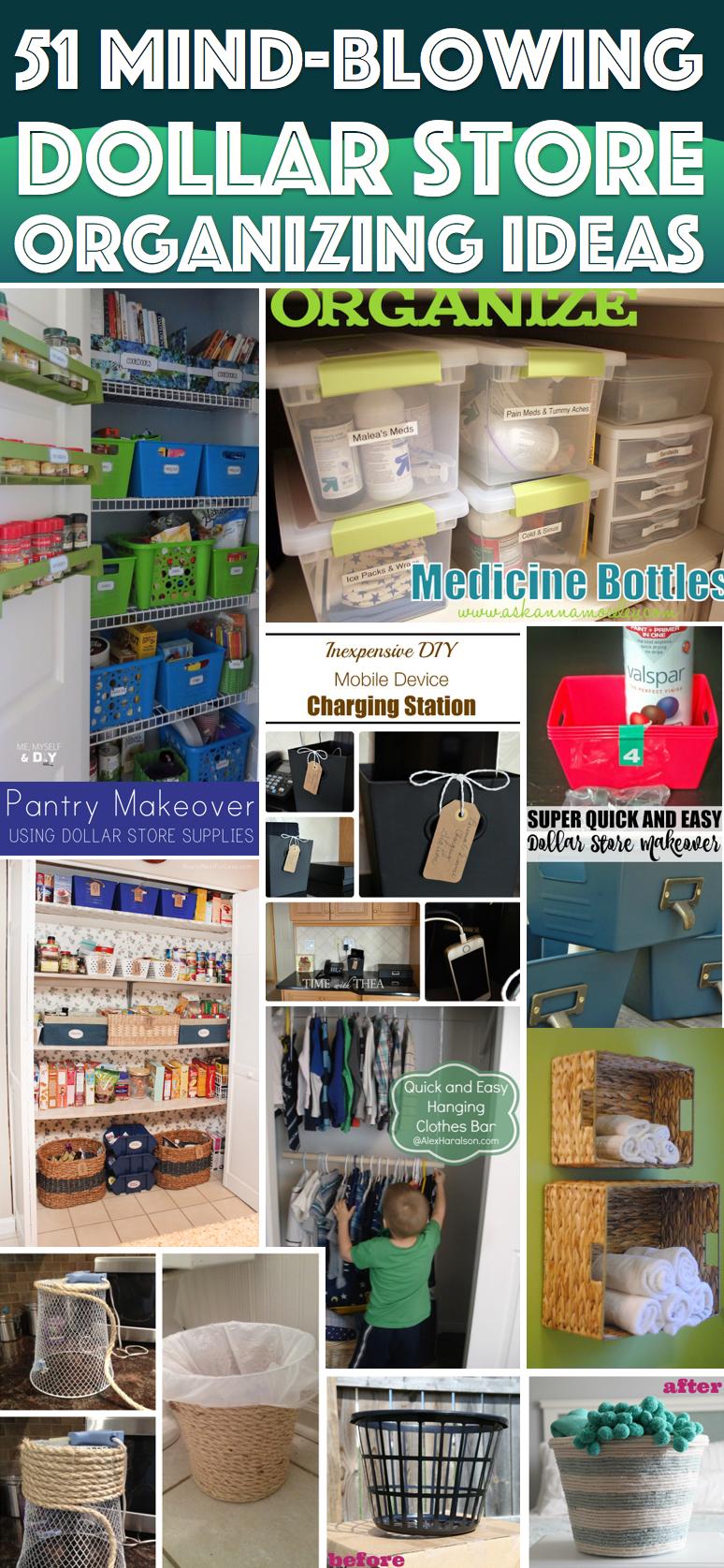 51 mind blowing dollar store organizing